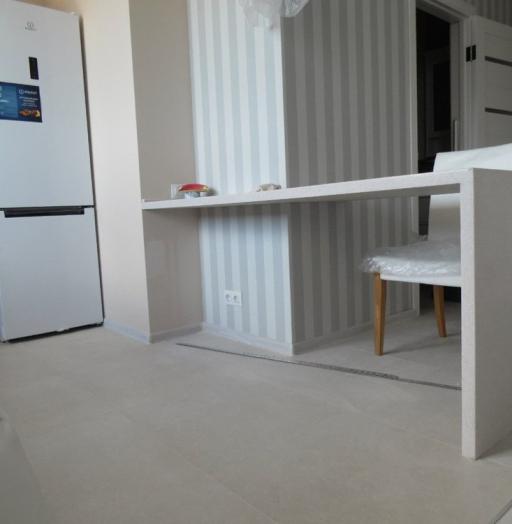 Белый кухонный гарнитур-Кухня МДФ в эмали «Модель 199»-фото5