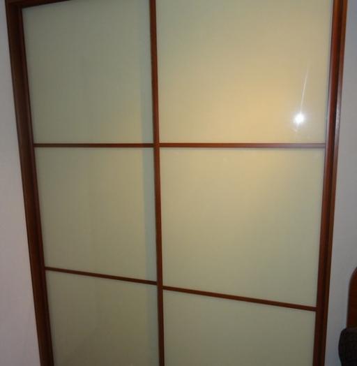 Двухдверный шкаф-купе-Шкаф-купе из стекла Лакобель «Модель 38»-фото4