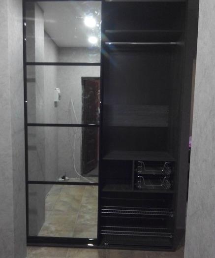 Встроенные шкафы-купе-Шкаф-купе с зеркалом «Модель 58»-фото6