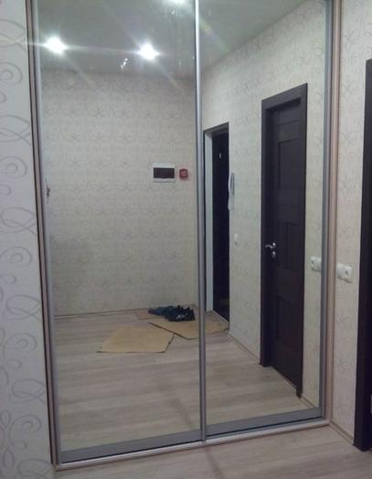 Встроенные шкафы-купе-Шкаф-купе с зеркалом «Модель 73»-фото3