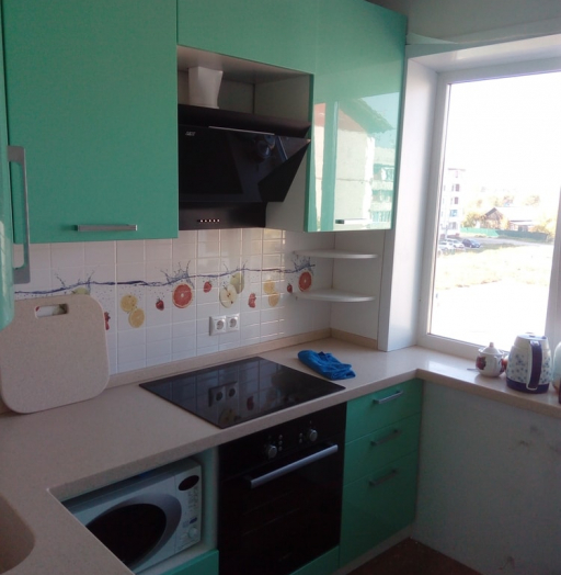 Встроенная кухня-Кухня МДФ в шпоне «Модель 335»-фото3