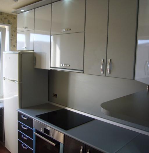 Встроенная кухня-Кухня МДФ в ПВХ «Модель 352»-фото3
